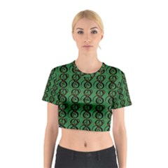 Abstract Pattern Graphic Lines Cotton Crop Top