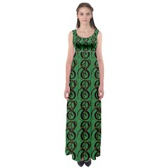 Abstract Pattern Graphic Lines Empire Waist Maxi Dress