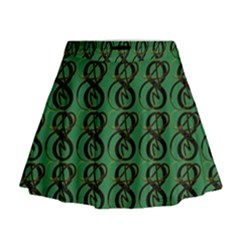 Abstract Pattern Graphic Lines Mini Flare Skirt