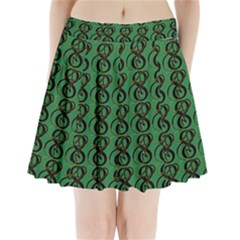 Abstract Pattern Graphic Lines Pleated Mini Skirt