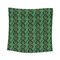 Abstract Pattern Graphic Lines Square Tapestry (small)