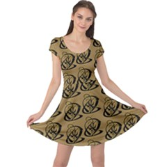 Abstract Swirl Background Wallpaper Cap Sleeve Dresses