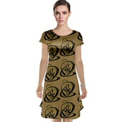 Abstract Swirl Background Wallpaper Cap Sleeve Nightdress