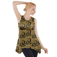 Abstract Swirl Background Wallpaper Side Drop Tank Tunic