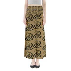 Abstract Swirl Background Wallpaper Maxi Skirts