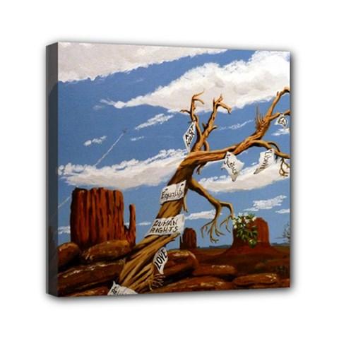 Acrylic Paint Paint Art Modern Art Mini Canvas 6  X 6