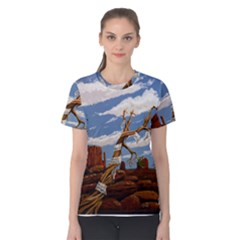 Acrylic Paint Paint Art Modern Art Women s Cotton Tee