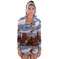 Acrylic Paint Paint Art Modern Art Women s Long Sleeve Hooded T Shirt