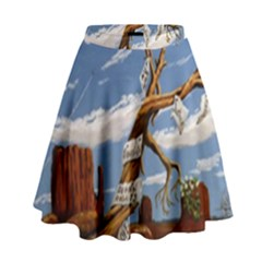 Acrylic Paint Paint Art Modern Art High Waist Skirt