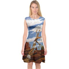 Acrylic Paint Paint Art Modern Art Capsleeve Midi Dress
