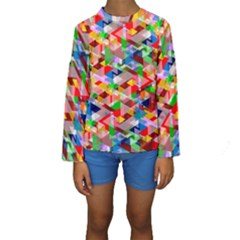 Background Abstract Kids  Long Sleeve Swimwear
