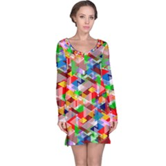 Background Abstract Long Sleeve Nightdress
