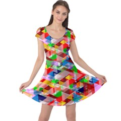 Background Abstract Cap Sleeve Dresses