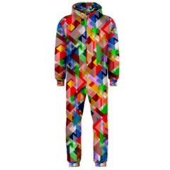 Background Abstract Hooded Jumpsuit (men)
