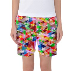 Background Abstract Women s Basketball Shorts