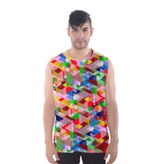 Background Abstract Men s Basketball Tank Top