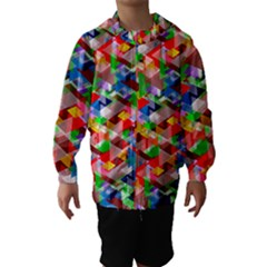 Background Abstract Hooded Wind Breaker (kids)