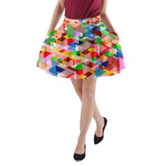 Background Abstract A Line Pocket Skirt