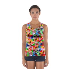 Background Abstract Women s Sport Tank Top