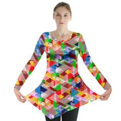 Background Abstract Long Sleeve Tunic