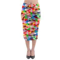 Background Abstract Midi Pencil Skirt