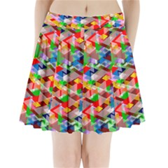 Background Abstract Pleated Mini Skirt