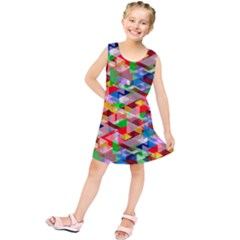 Background Abstract Kids  Tunic Dress