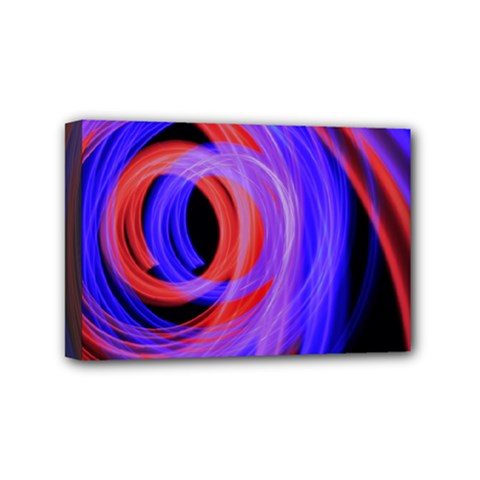 Background Blue Red Mini Canvas 6  X 4