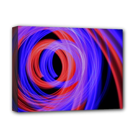 Background Blue Red Deluxe Canvas 16  X 12