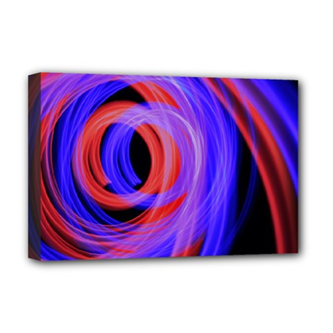 Background Blue Red Deluxe Canvas 18  X 12
