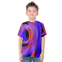 Background Blue Red Kids  Cotton Tee