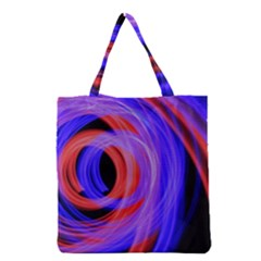 Background Blue Red Grocery Tote Bag