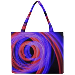 Background Blue Red Mini Tote Bag