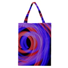 Background Blue Red Classic Tote Bag