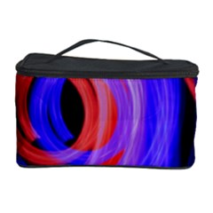 Background Blue Red Cosmetic Storage Case