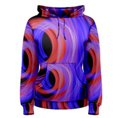 Background Blue Red Women s Pullover Hoodie