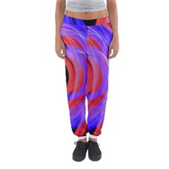 Background Blue Red Women s Jogger Sweatpants