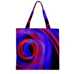 Background Blue Red Zipper Grocery Tote Bag