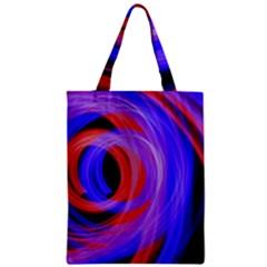 Background Blue Red Zipper Classic Tote Bag