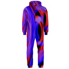 Background Blue Red Hooded Jumpsuit (men)