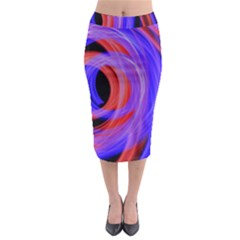 Background Blue Red Midi Pencil Skirt