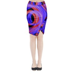 Background Blue Red Midi Wrap Pencil Skirt