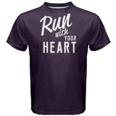 Run with your heart - Men s Cotton Tee