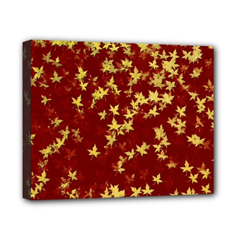 Background Design Leaves Pattern Canvas 10  X 8