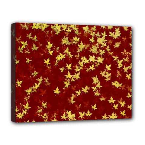 Background Design Leaves Pattern Canvas 14  X 11