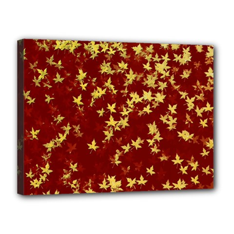 Background Design Leaves Pattern Canvas 16  X 12