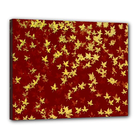 Background Design Leaves Pattern Canvas 20  X 16