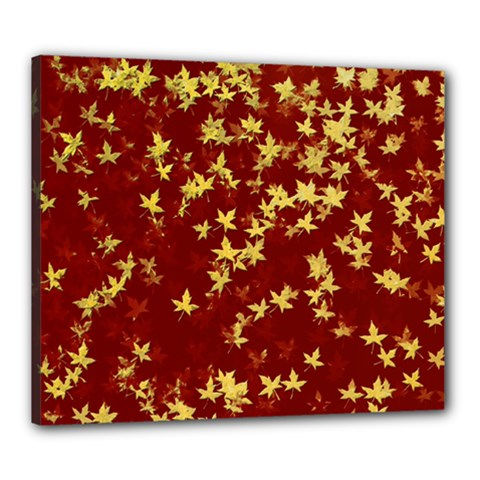 Background Design Leaves Pattern Canvas 24  x 20