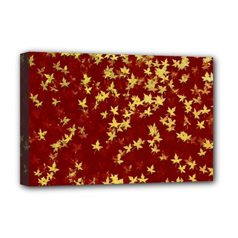 Background Design Leaves Pattern Deluxe Canvas 18  X 12
