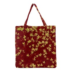 Background Design Leaves Pattern Grocery Tote Bag